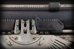 Close up of a dirty vintage typewriter Royalty Free Stock Images