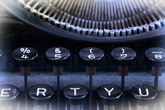 Close up of a dirty vintage typewriter Stock Photography