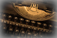 Close up of a dirty vintage typewriter Royalty Free Stock Photography