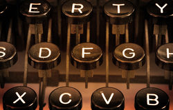Close up of a dirty vintage typewriter Stock Image