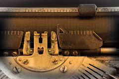 Close up of a dirty vintage typewriter Stock Images