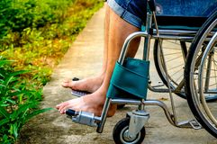 Close Up Disabled wheelchair stock images