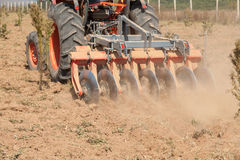 Close up of a disc harrow system, cultivate the soil Stock Photos