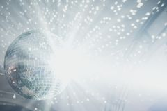 Disco ball. Close up of disco ball on party royalty free stock image