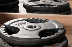 Free Close-up Disk For Dumbbells Used In Gym Royalty Free Stock Images - 67317689