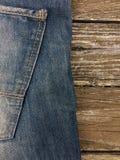 Close-up disparado da calças de ganga Fotografia de Stock