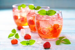 Close-up disparado de limonadas da morango Imagem de Stock Royalty Free