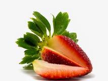 Close up disparado de morangos frescas Imagem de Stock