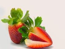 Close up disparado de morangos frescas Imagens de Stock Royalty Free