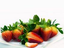 Close up disparado de morangos frescas Fotos de Stock Royalty Free