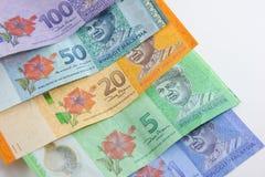 Close up disparado do ringgit Malásia Fotos de Stock