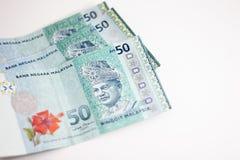 Close up disparado do ringgit Malásia Foto de Stock Royalty Free