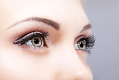 Close-up disparado dos olhos fêmeas Imagens de Stock Royalty Free