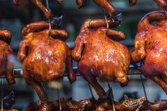 Close up disparado no frango assado Fotos de Stock Royalty Free