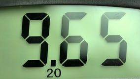 Close up display of digital multimeter