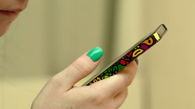 Close up disponivel de Smartphone Fotos de Stock Royalty Free