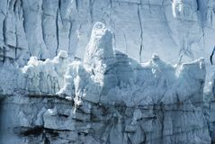 Close-up of a distinctive ice formation on the face of the Marge. Rie Glacier Stock Photos