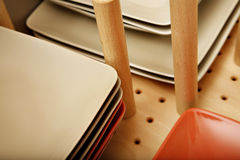 Divider in plate drawer Stock Images