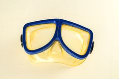 Close-up of diving scuba mask. Object on a White Background stock image