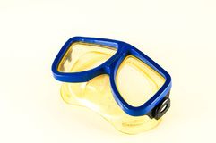 Close-up of diving scuba mask. Object on a White Background royalty free stock photo