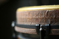Close Up of a Djembe Head Royalty Free Stock Photography