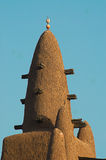 Close up of Djenne mosque minaret Royalty Free Stock Photos