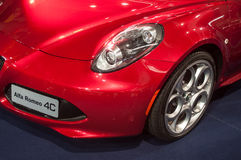 Close up do alfa romeo 4C Foto de Stock Royalty Free