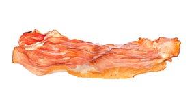 Close-up do bacon isolado no branco fotografia de stock