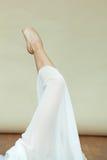 Close up do ballerina& x27; pé de s foto de stock