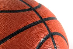 Close up do basquetebol isolado sobre Fotografia de Stock Royalty Free