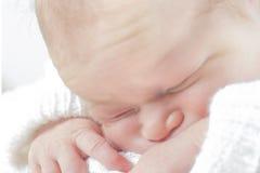 Close up do bebê Fotografia de Stock