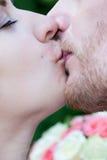 Close up do beijo fotografia de stock