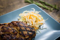 Close up do bife da carne de porco Imagens de Stock Royalty Free