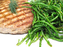 Close-up do bife de atum Imagem de Stock