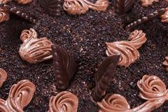 Close-up do bolo de chocolate Fotos de Stock Royalty Free
