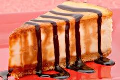 Close up do bolo de queijo Fotos de Stock