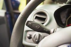Close up do botão interior do carro fotos de stock royalty free