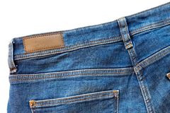 Close up do brim traseiro isolado no branco fotografia de stock