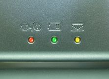 Close up do caderno Imagem de Stock