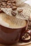 Close-up do café preto foto de stock