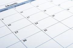 Close up do calendário fotos de stock royalty free