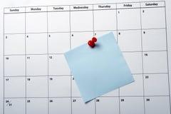 Close up do calendário Fotografia de Stock