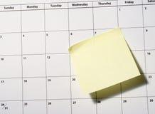 Close up do calendário Imagens de Stock