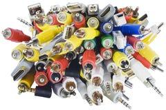 Close-up do caos dos conectores Imagem de Stock