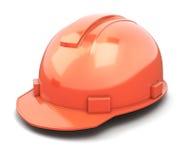 Close-up do capacete da construção no branco Foto de Stock Royalty Free