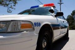 Close up do carro de polícia Imagem de Stock Royalty Free