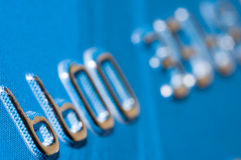 Close up do cartão de crédito Imagens de Stock