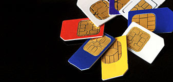 Close-up do cartão de Sim Fotografia de Stock