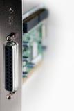 Close-up do cartão do SCSI isolado - vertical Foto de Stock