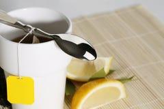 Close up do chá da manhã fotos de stock royalty free